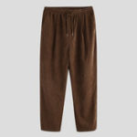 New Men Drawstring Solid Color Vintage Pants