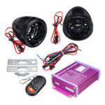 New 12V Anti-theft Motorcycle Alarm System MP3 FM SD USB Remote Engine Start+2 Horns