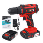 New 88VF 25+1 Gear Li-ion Battery Electric Drill 2 Speed Cordless Power Drill Drilling Tool 1 Or 2 Batteries 10mm Chuck