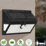 New 44 LED Solar Power Wall Light Security Outdoor Garden Motion Activated Yard Lamp