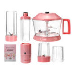 New Grade Blender Mixer Set Juicer High Power Food Processor Ice Smoothie Bar Fruit Blender Pink
