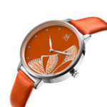 New SHENGKE SK K0118 Butterfly Pattern Women Quartz Watch