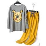 New Printing Thin Flannel Pajama Set