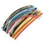 New 70Pcs 20cm 5size 2:1 Shrinkage Ratio 7color Polyolefin Heat Shrink Tube Sleeve Wrap Wire
