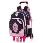 New 2/6 Wheels Children Trolley Backpack 16inch Laptop Bag Detachable School Rucksack Outdoor Travel