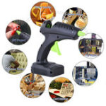 New 60W Cordless Hot Glue G un Trigger Melt Electric Heating DIY Adhesive Repair Tool