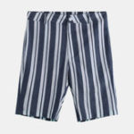 New Men Sumemr Beach Stripe Breathable Big Pocket Casual Shorts