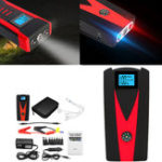 New 12V 99900mAh Portable Car Jump Starter Booster Power Bank 2 USB Battery Charger