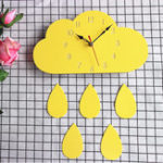 New Cloud Wall Clock Home Cartoon Living Room Creative Wall Clock
