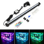 New DOCEAN LED RGB Aquarium Light 48cm 16 Color RF Remote Control Waterproof Fish Tank Underwater Lamp