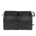 New Universal Foldable Oxford Cloth Car Storage Box Bag Case Black Cargo Organizer