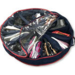 New 12-grid Transparent Multi-function Round Storage Shoe Bag