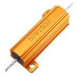 New 3pcs RX24 50W 15R 15RJ Metal Aluminum Case High Power Resistor Golden Metal Shell Case Heatsink Resistance Resistor