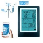 New WiFi Weather Station LCD Thermometer Hygrometer Rainfall Pressure Wind Speed Direction Wireless APP Weather Forecast Data Alarm