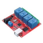 New 4CH Channel 12V Computer USB Control Switch Free Drive Relay Module PC Intelligent Controller