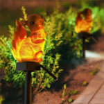 New Squirrel Solar Lawn Lamp Garden Decor Light Waterproof Outdoor Pathway