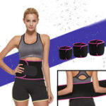 New KALOAD Sports Fitness Body Shaping Waist Belt Elastic Pressure Straining Waist Support – Red