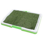 New 3 Tire Indoor Puppy Dog Pet Potty Training Pee Pad Mat Tray Grass Toilet With Tray