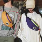 New Pure Color Oxford Waterproof Shoulder Bag Waist Bag for Men