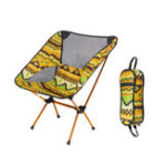 New Outdoor Portable Folding Chair Aluminum Alloy BBQ Seat Stool Camping Picnic Max Load 150kg