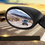 New California Style Universal Car Door Side Mirror Rearview Vintage Matte Black L+R