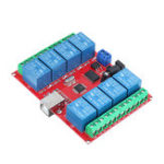 New 8CH Channel 12V Computer USB Control Switch Free Drive Relay Module PC Intelligent Controller