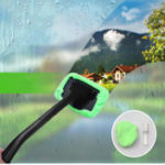 New Window Windshield Cleaning Kit Tool Microfiber Cloth Car Cleanser Brush with Detachable Handle Auto Glass Wiper