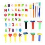 New 51Pcs Creative Graffiti Drawing Children Painting Brush Flower Kits Toys Kids Gift