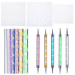 New 16Pcs Mandala Dotting Tools Rock Painting Kit Dot nail Art Pen Paint Stencil