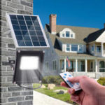 New 20W 20 LED Solar Flood Light Waterproof Outdoor Garden Street Path Yard Lamp Remote Control