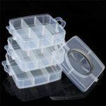 New 18 Grid Detachable Plastic Craft Beads Jewellery Storage Organizer Tool Box Case Closet Grid Organizer Storage Box