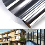 New 150x50CM One-way Mirror Glass Sticker Reflective Insulation Silver Window Film