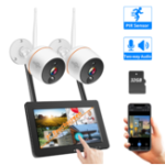 New Hiseeu WNKIT-7V-2HB412 EU White 2 million pixel wireless network camera set