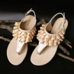 New Lostisy Women Laciness Pure Color Buckle Sandals