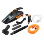 New 4 in 1 Handheld Wired Car Vacuum Cleaner Tire Inflatable Air Pump Lighting 5000Pa Suction Wet and Dry
