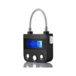 New 99 Hours USB Rechargeable Time out Padlock Max Timing Lock Digital Timer Alarming Padlock w/ LCD Display Screen