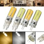 New Dimmable G4 G9 5W Silicone Warm White Pure White LED COB Light Bulb Chandelier Lamp AC220V
