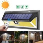 New Solar Power 180 COB LED PIR Motion Sensor Wall Light Outdoor Garden Yard Lamp Waterproof