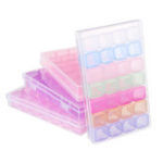 New 28 Slots Cosmetic Organizer Clear Acrylic Makeup Holder Case Box Jewelry Storage Box