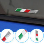 New Aluminum Car Decal Stickers Italy National Flag Fender/Trunk Emblem Badge Fits Alfa Ro meo FIAT