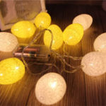 New 1.8M 10PCS Battery Powered Easter Egg Home Party Decor Warm White LED String Light Holiday Hunting Ornament