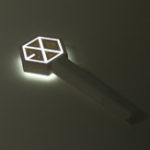 New Kpop EXO Official Light Stick VER.3.0 Version In Seoul Concert Stick + Photo Card Decorations