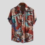 New Mens Holiday Colorful Pattern Printed Summer Hawaiian Shirts