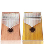 New GUISTAR 17 Keys Mahogany Acacia Wood Kalimba Thumb Finger Piano with Bag Set