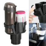 New 2 in 1 Auto Truck Car Seat Cup Holder Valet Beverage Can Food Drink Bottle Mount Stand Storage Organizer