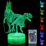 New 3D Illusion Night Light Touch Remote Control Home Decor Table Desk Lamp