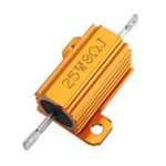 New 5pcs RX24 25W 8R 8RJ Metal Aluminum Case High Power Resistor Golden Metal Shell Case Heatsink Resistance Resistor