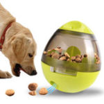 New Dog Food Dispenser Ball Toys Pet Increase IQ Slow Feeder Interactive Treat Dispensing Ball Tumbler Design