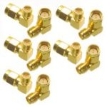 New 10PCS SMA Male to RP-SMA Female Right Angle RF Adapter Connector For RC Drone