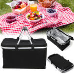 New Xmund XD-LG1 30L Folding Picnic Storage Baskets Insulated Storage Cooler Hamper Waterproof Camping Travel Lunch Bag